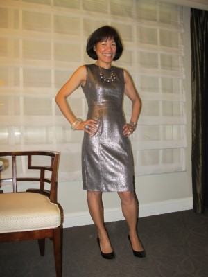 Celebrating silver - in my dress for now, Las Vegas, February 2012.