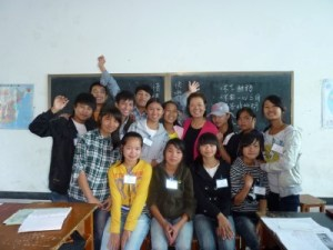 Liou and her students at the PEACH summer camp, Yunnan, China, July 2012. (Photo courtesy of Liou)
