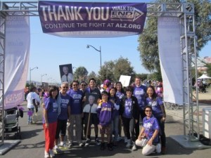 The family-formed walk group for the Alzheimer's Association's Walk to End Alzheimer's, October 2012. (Photo courtesy of Tenny Tsai)