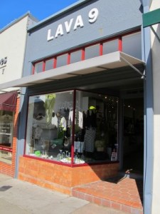 Lava 9's inviting storefront near the top of Solano.