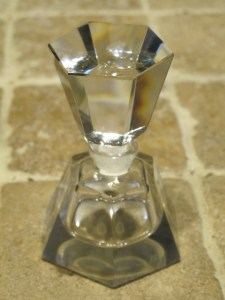 Vintage glass perfume bottle.