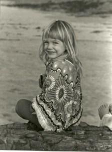 Tana as a child and budding artist.