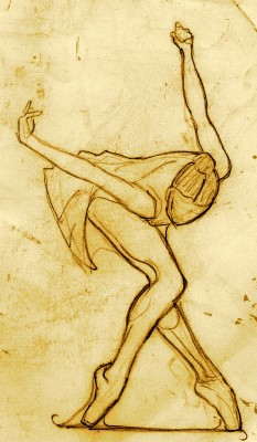 Sketch of a dancer.