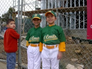 Opening day with friend and teammate Isaac, Pinto Seals, March 2008.