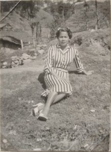 My mom in high heels, the Philippines, circa 1950s.