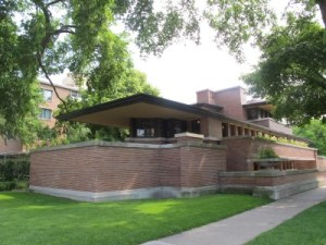 The Frederick C. Robie house in Chicago.