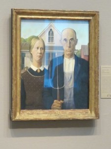 Grant Wood's American Gothic, 1930.
