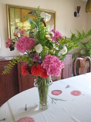 A June bouquet for our middle school auction bid winner.