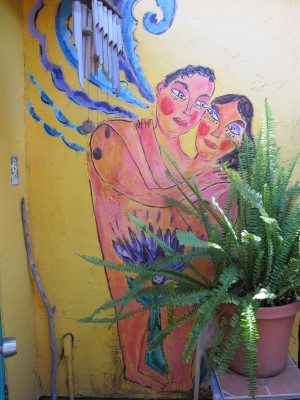 One of the many murals in Lauren's backyard. You might recognize her murals at Annie's Annuals in Richmond, CA.