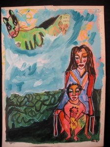 Lauren's Dictionary painting called Mother.