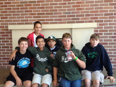 Half of Jacob's baseball team after seeing the movie The Way, Way Back.