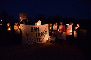 A protest against fracking (courtesy of The Pollination Project).