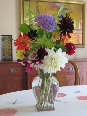 Another July auction bouquet.