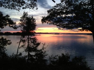 Maine sunset from Peaks Island, looking toward Portland.