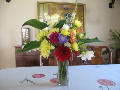 My second to the last summer bouquet for the winning bidder of my Portola Middle School auction item.