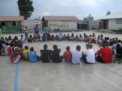 Closing prayer with the kids at Sakala - solidarity.