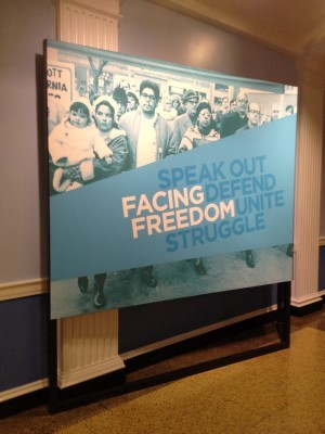 Facing Freedom exhibit.