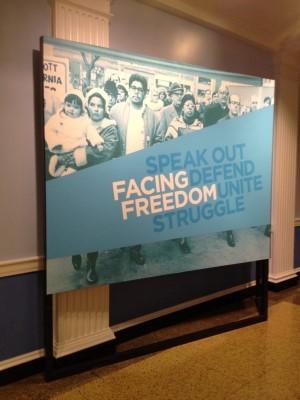 Facing Freedom exhibit.