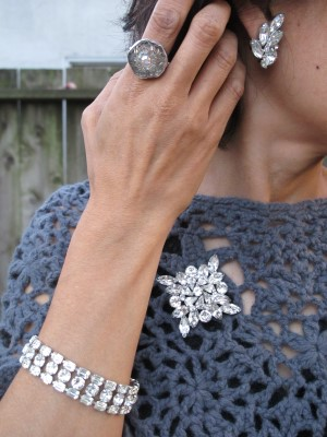 A closer look at vintage rhinestone.
