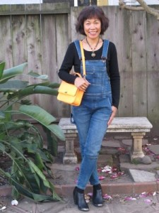 Throwback to the 1970s or an homage to Nebraska: coveralls or overalls but with a skinny leg and booties instead of flip flops, my high school uniform.