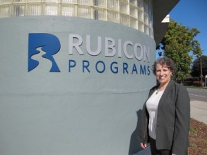 Jane, outside the Rubicon offices in Richmond.