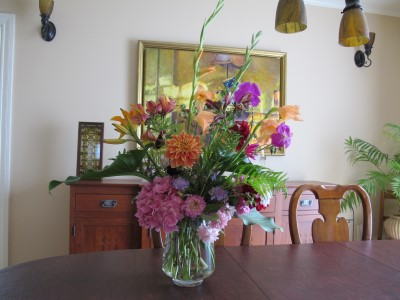 An early June bouquet, the back side.