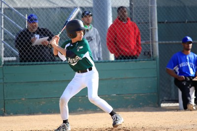 Jacob at bat in a Fremont, CA, tournament.