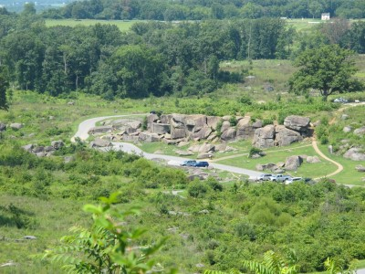 Little Round Top - where Brig. Gen. Gouverneur K. Warren alerted Union officers to the Confederate threat and brought Federal reinforcements to defend this position.