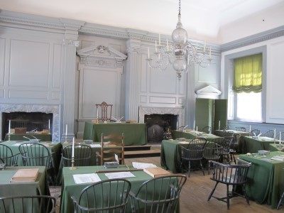 The room where the Declaration of Independence was signed.