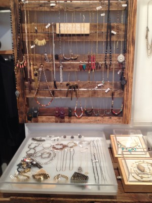 Showcase dripping with jewelry.