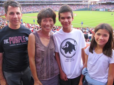 Enjoying America's favorite pastime with the Phillies and the Mets, August 2014.