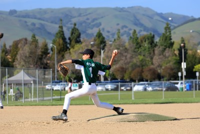 Strike 3 coming off the mound, Fremont, CA, summer 2014.