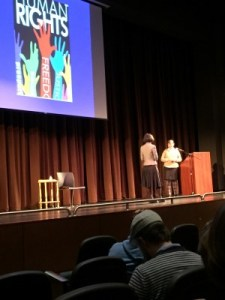 The conclusion of a very inspirational talk at the El Cerrito High School Performing Arts Theater.