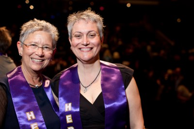 Jeanne and Gwen Coleman, PhD, of the National Institute of Environmental Health Sciences.