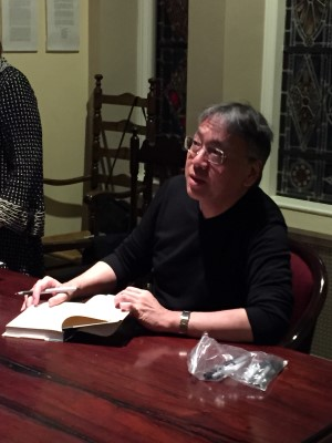 Ishiguro was very gracious while signing his books.