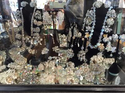 Dazzling vintage rhinestone jewelry.