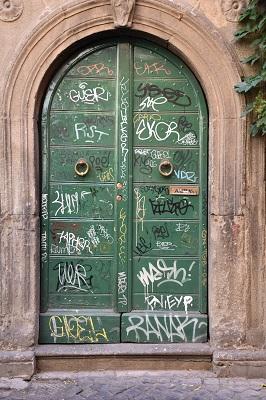 Lots of graffiti in Trastevere.