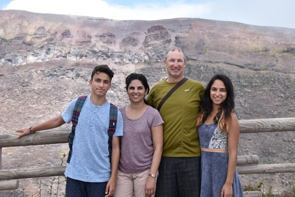 Commemorating the ascent to Mt. Vesuvius: Nic, Raissa, Mike, and Sofia.