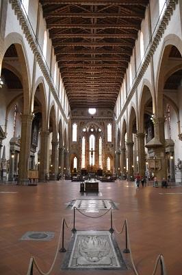 The inside of Santa Croce Church.