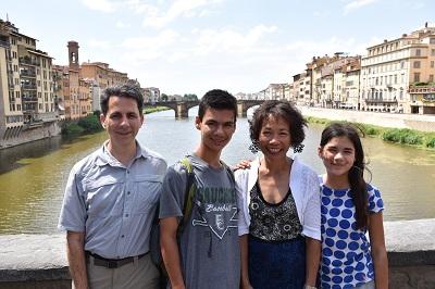 Family portrait on the Ponte Vecchio.