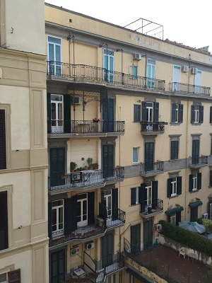 Our room with a view - at the Majestic Hotel in Napoli.