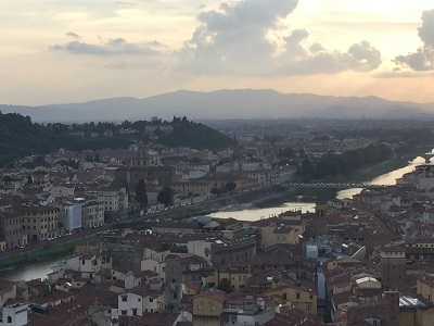 The Arno River from the top of the Palazzo Vecchio.