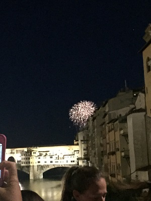 My lame photograph of the fireworks.