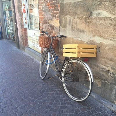 One last bicycle before we leave Lucca.