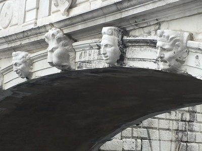 Detail from the Bridge of Sighs.