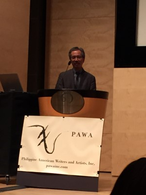 Edwin Lozada welcomes everybody to the Third Filipino American International Book Festival.