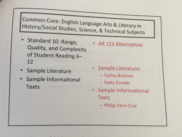 I can't tell you what an honor it is to be next to Philip Vera Cruz's name. His memoir was one of the primary texts I used for research for my novel.