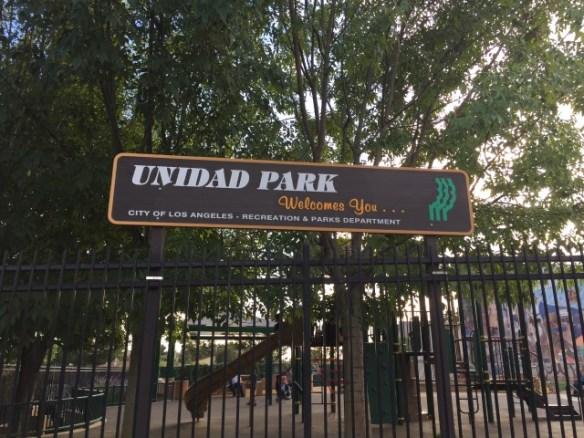 Unidad Park in historic Filipinotown.