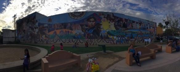 Panoramic shot of Eliseo Art Silva's magnificent mural.