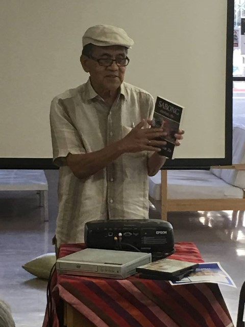 An impromptu discussion by Paulino Lim Jr., retired professor at California State University, Long Beach, and author, about his collection of short stories, Sabong stories, etc.